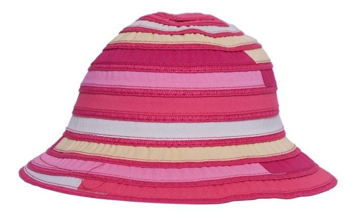 Bøllehat til børn, Stribet, Pink (01379-4)