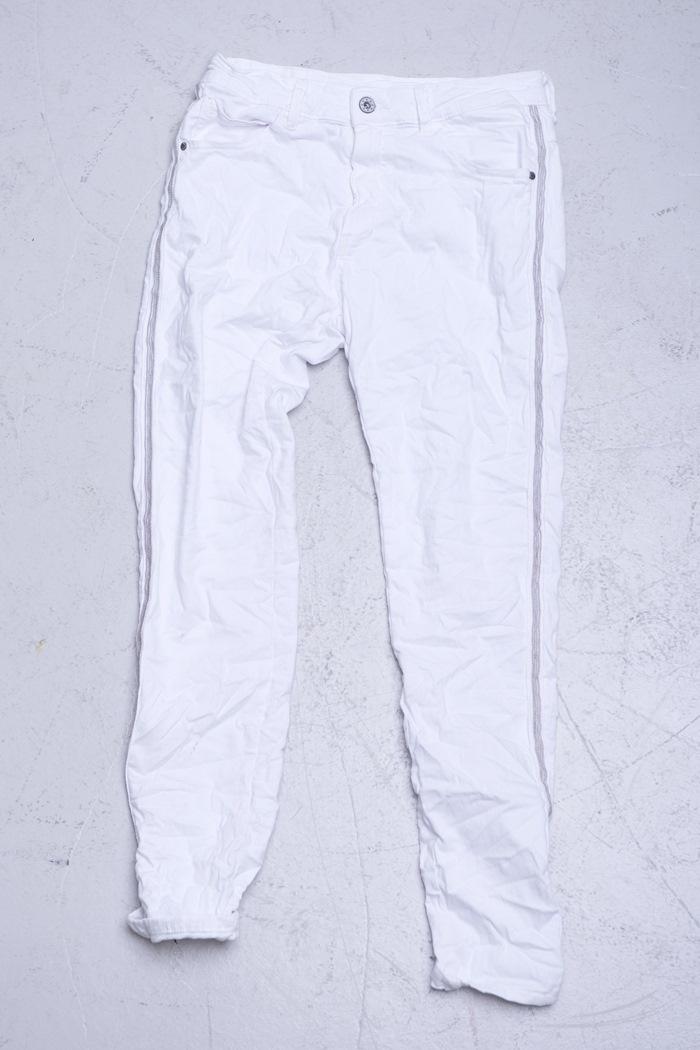 Bukser m/stribe, Hvid