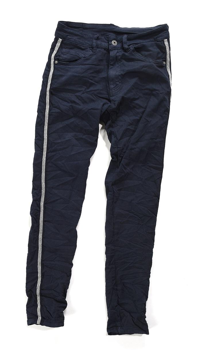 Bukser m/stribe, Mørk Blå