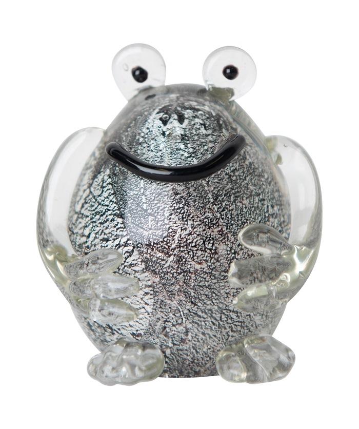 Glasfrø Stor, Sort/sølv