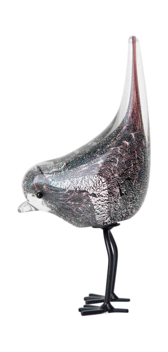 Glasfugl, hale op, Sort/sølv