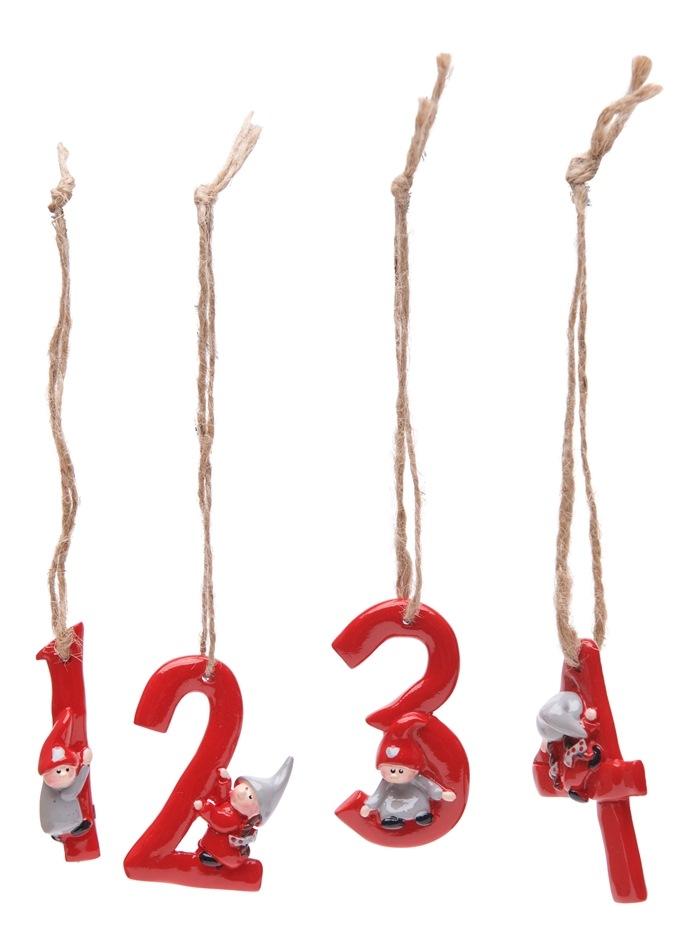 Hjärtsson røde tal 1-4, 4 ass, v/5 sæt (23857)