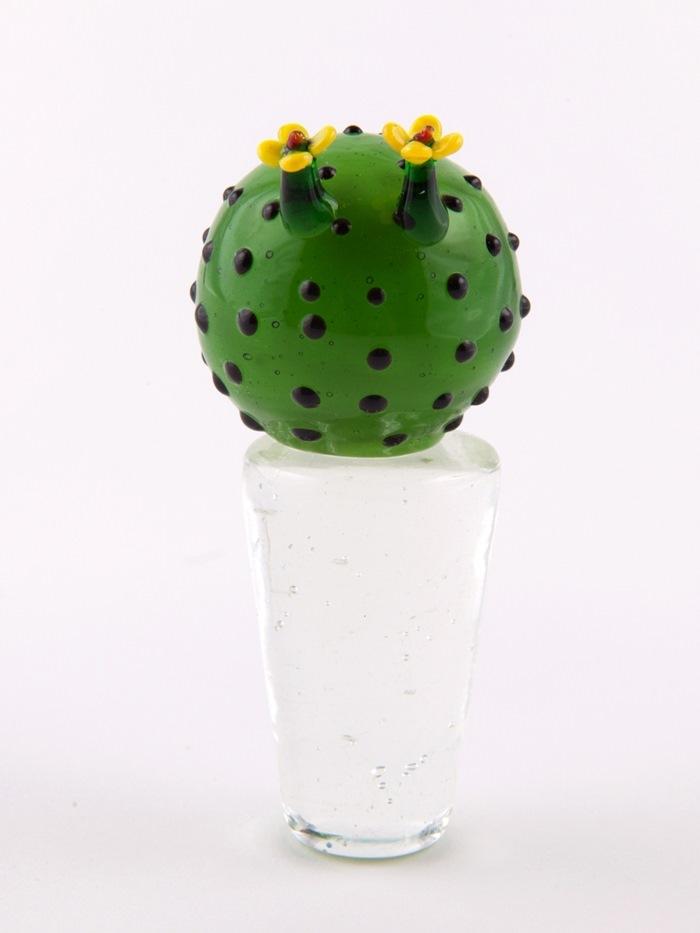 Kaktus i potte, rund