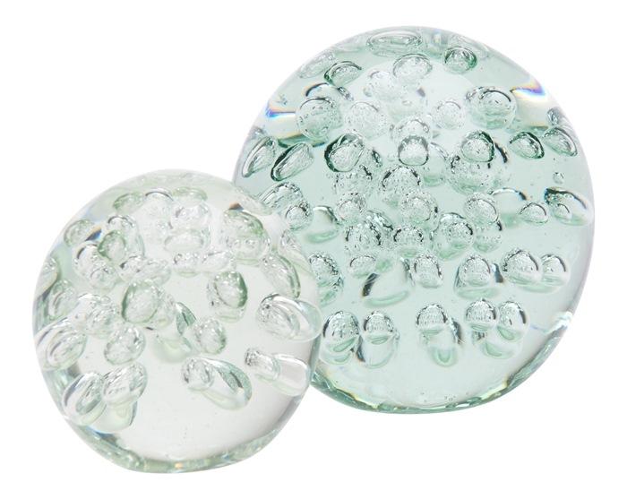 Klar glaskugle, m/bobler, S Ø8cm