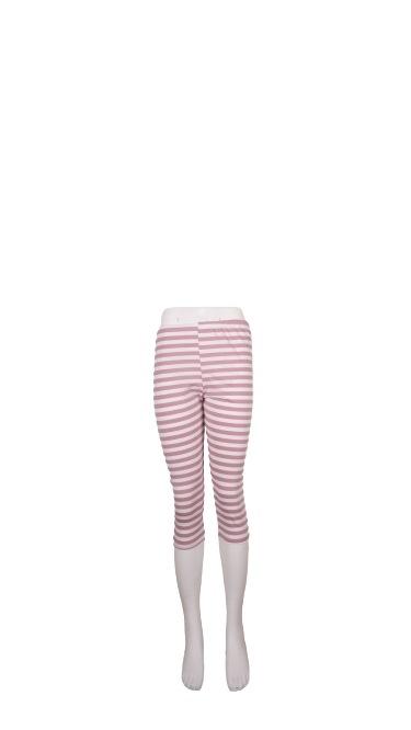 Leggings, Bomuld, Sæt af 3 stk. S/M/L, Stribet Rosa/hvid