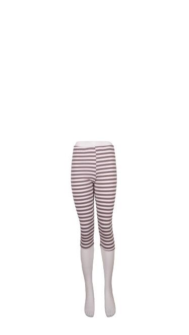 Leggings, Bomuld, Sæt af 3 stk. S/M/L, Stribet Sand/hvid