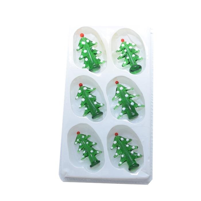 Mini Juletræ, pakke med 6 stk, v/ 6 pk.