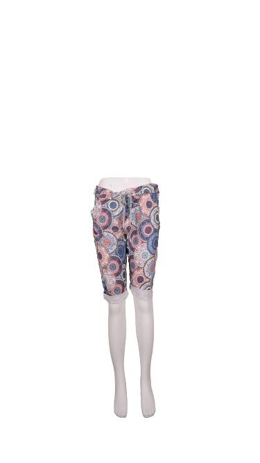 Shorts m/bindebånd, Blomstret Blå