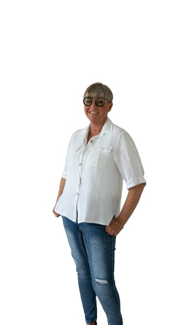 Skjortejakke, Hør, Hvid