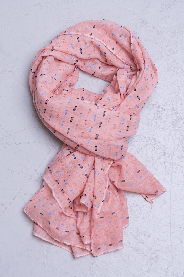 Tørklæde, Lyserød (01011-3)