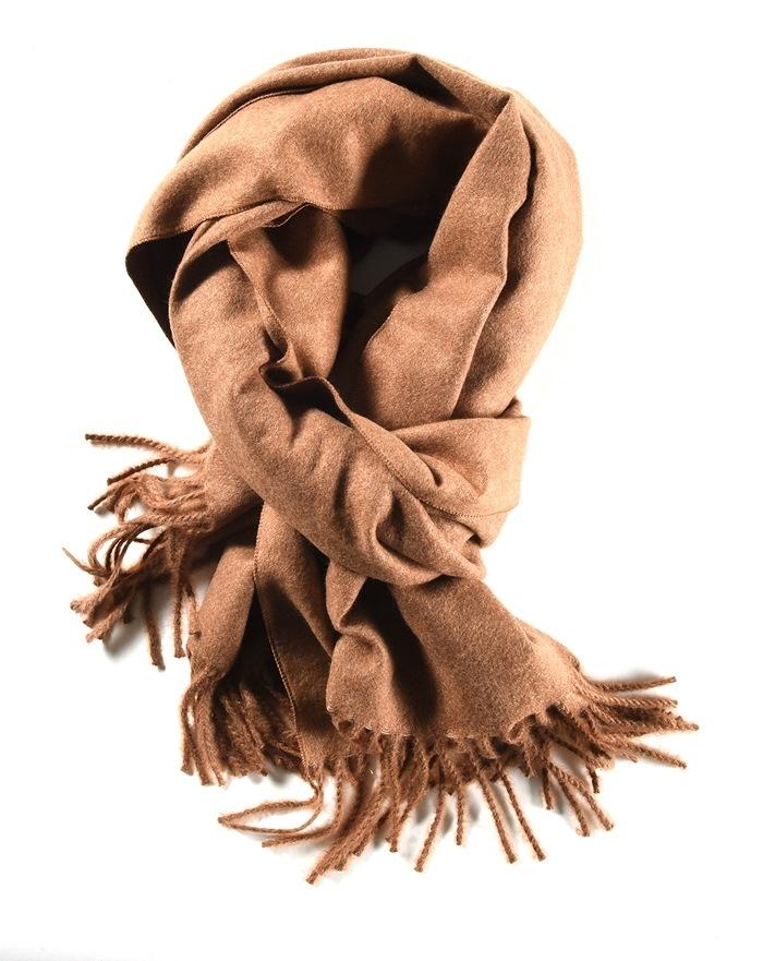 Tørklæde, tykt, Brun