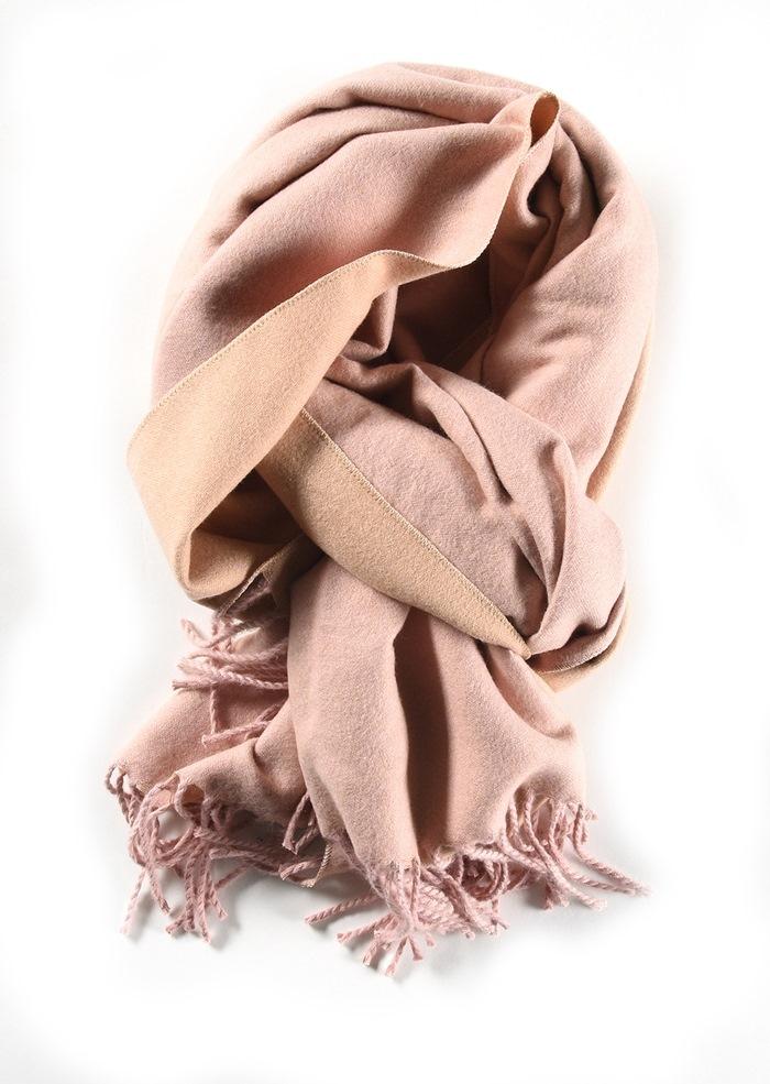 Tørklæde, tykt, Lyserød
