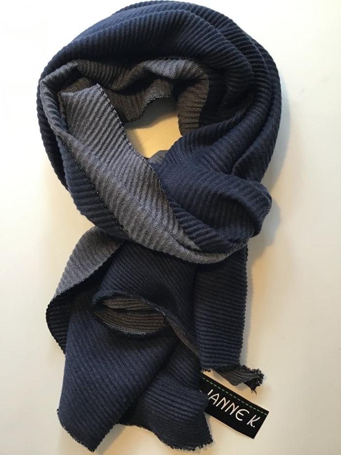 Tørklæde, tykt ensfarvet, Blå