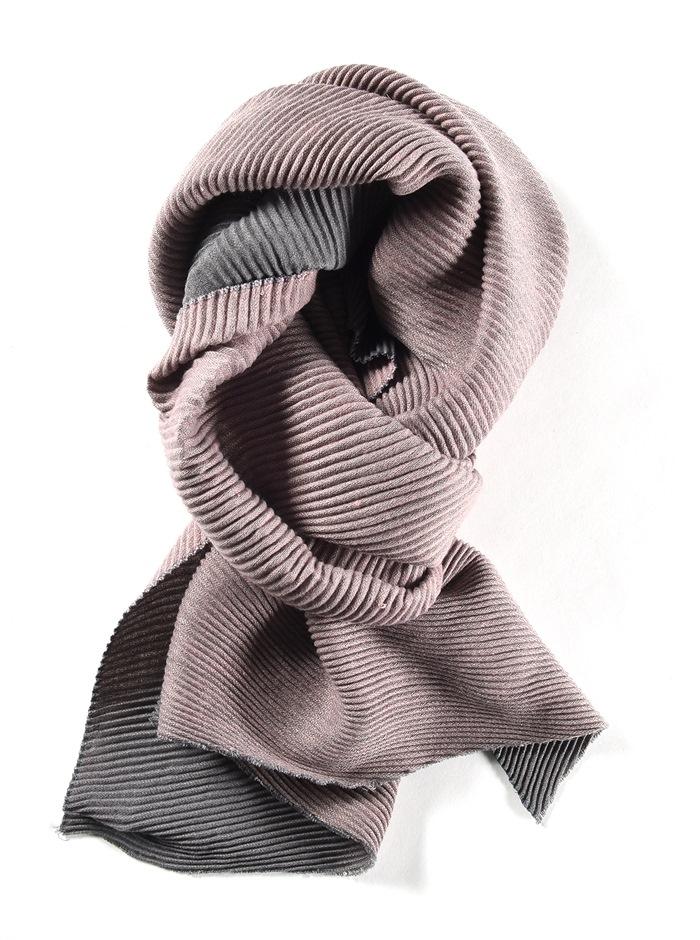 Tørklæde, tykt ensfarvet, Rosa