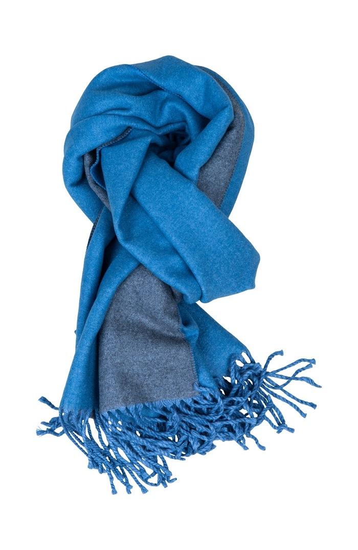 Tørklæde, viscose, Blå