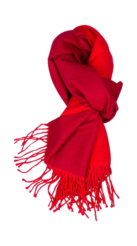 Tørklæde, viscose, Rød