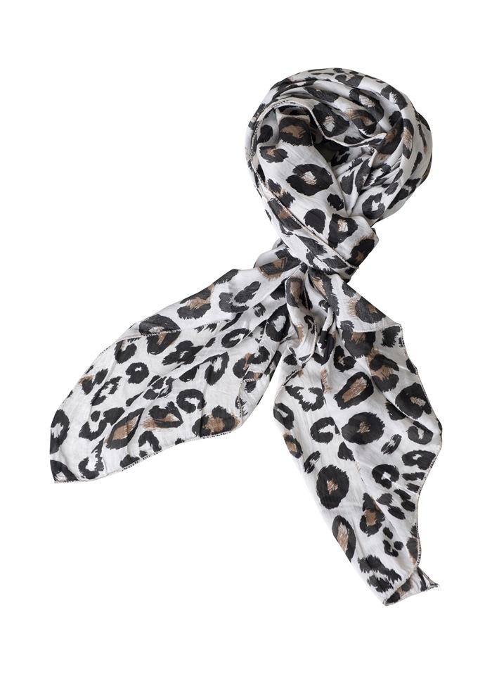 Tørklæde silke/bomuld, Camouflage, Beige