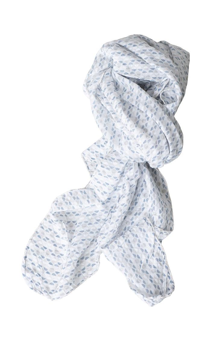 Tørklæde silke/bomuld, Cirkler, Beige