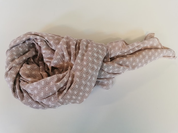 Tørklæde silke/bomuld, Firkant, Rosa (-55)