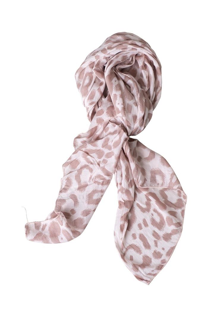 Tørklæde silke/bomuld, Malerstrejf, Rosa (-90)