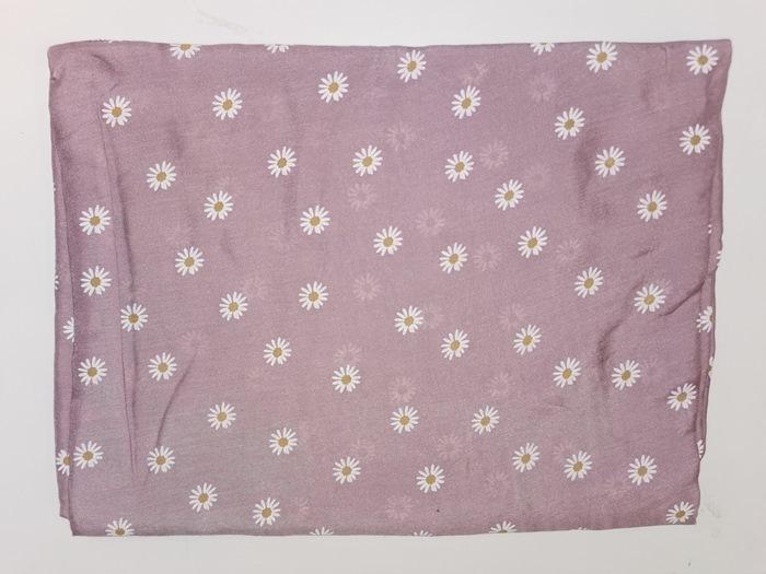 Tørklæde silke/bomuld, Margerit, Rosa (-19)
