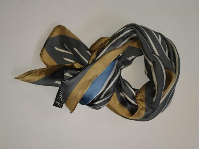 Tørklæde stribet Grå/blå
